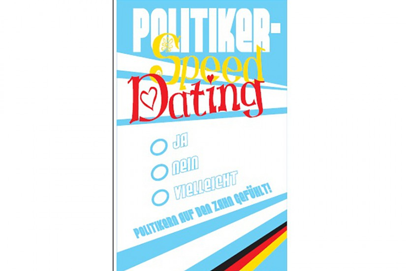 Politiker-Speeddating (Flyer)